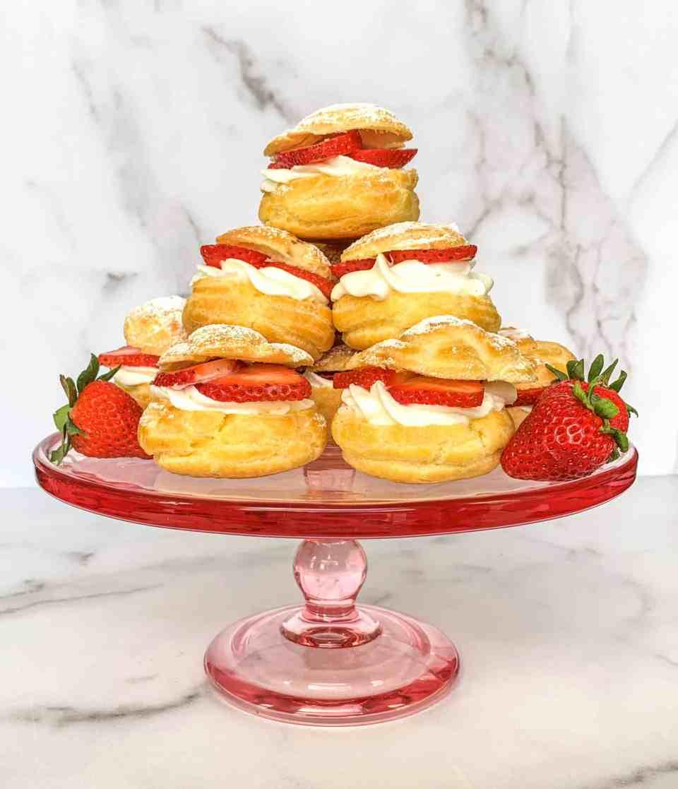 Strawberry Shortcake Cream Puffs