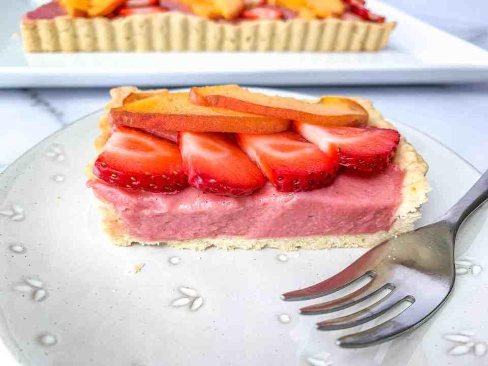 Strawberry Peach Tart