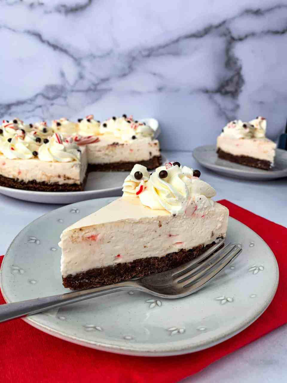 Peppermint Brownie Cheesecake