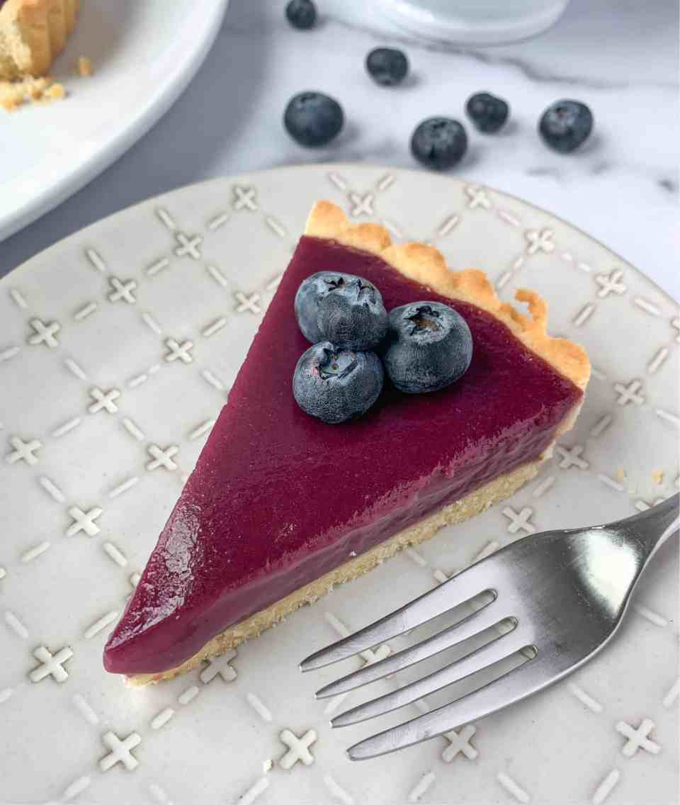 Blueberry Curd Tart