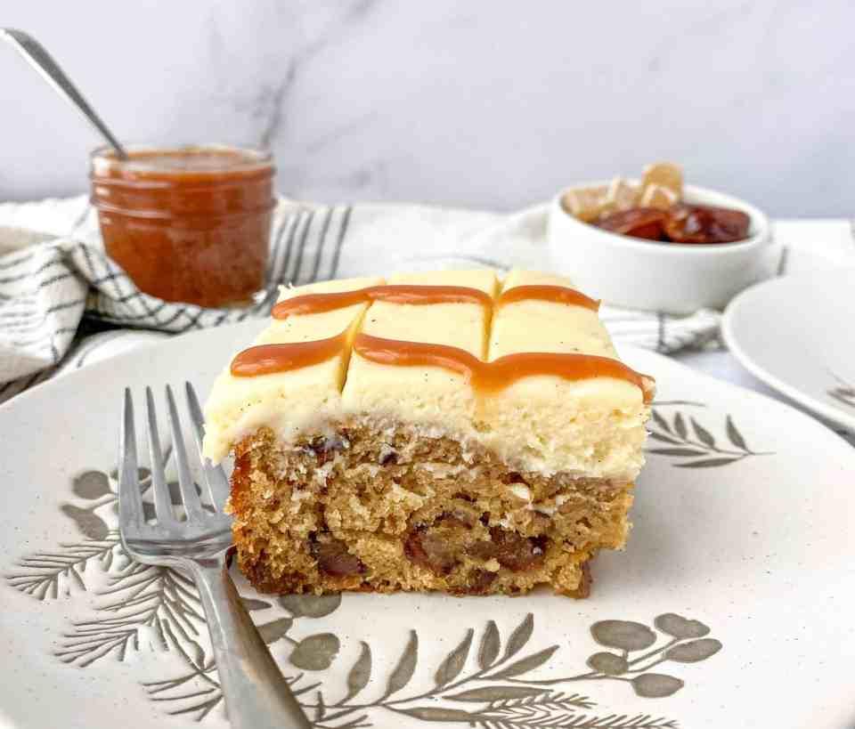 Caramel Ginger Date Cake