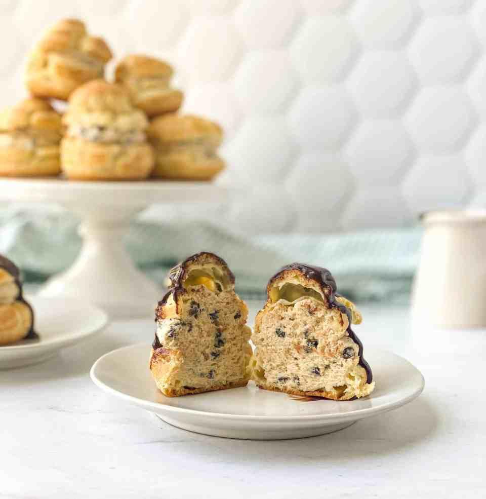 Cookie Dough Cream Puffs