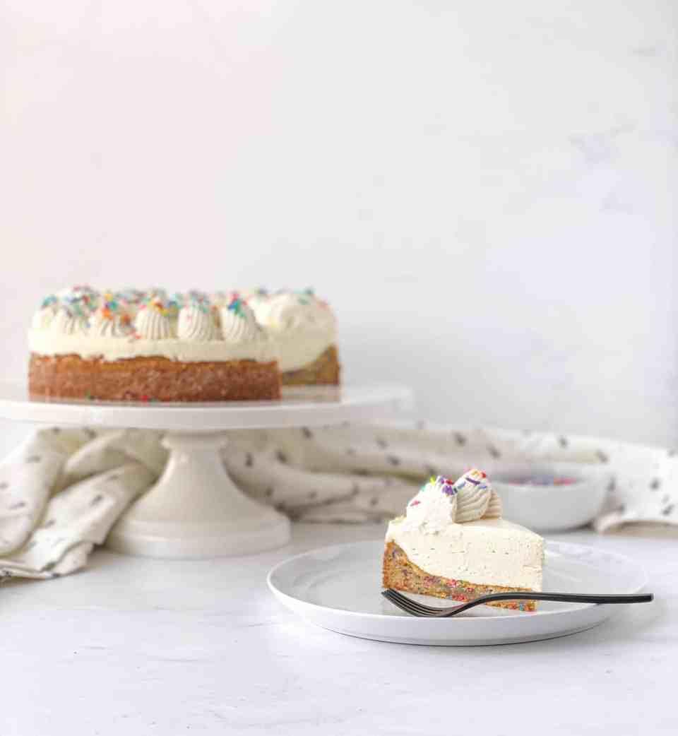 Vanilla Bean Blondie Cheesecake
