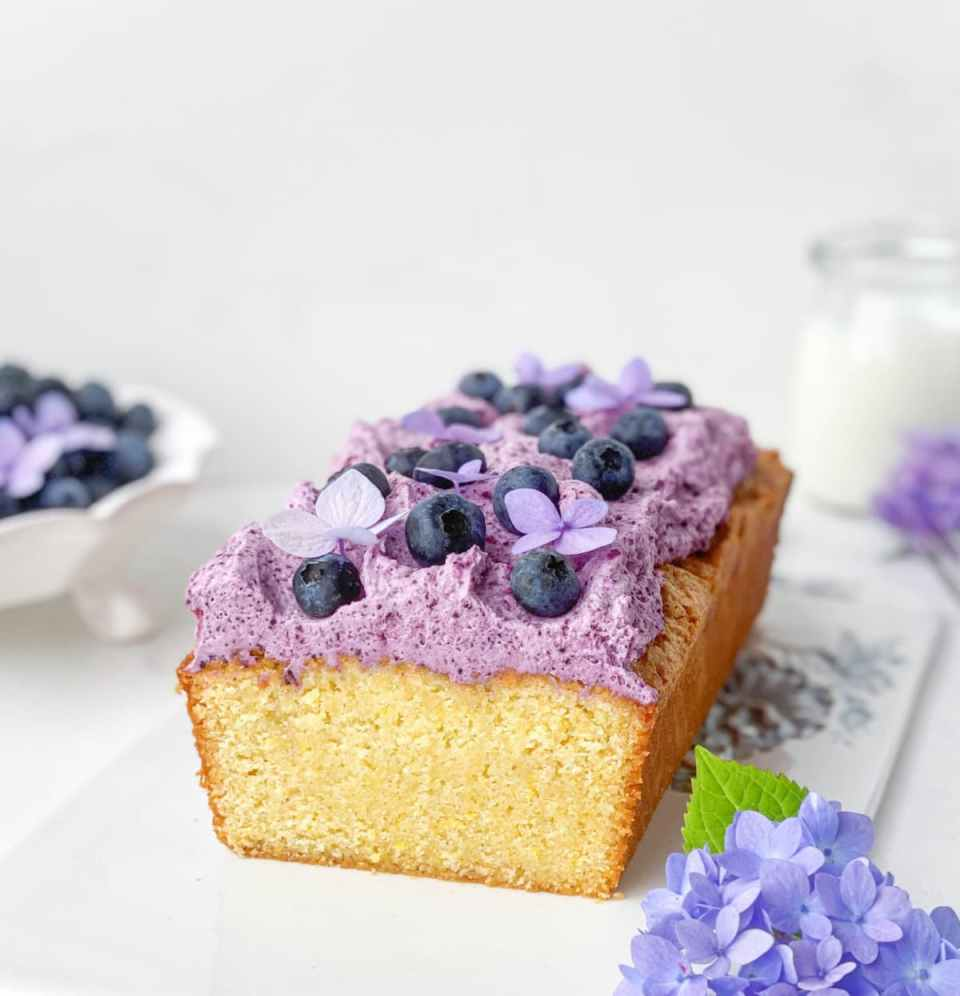 Blueberry Cornmeal Pound Cake