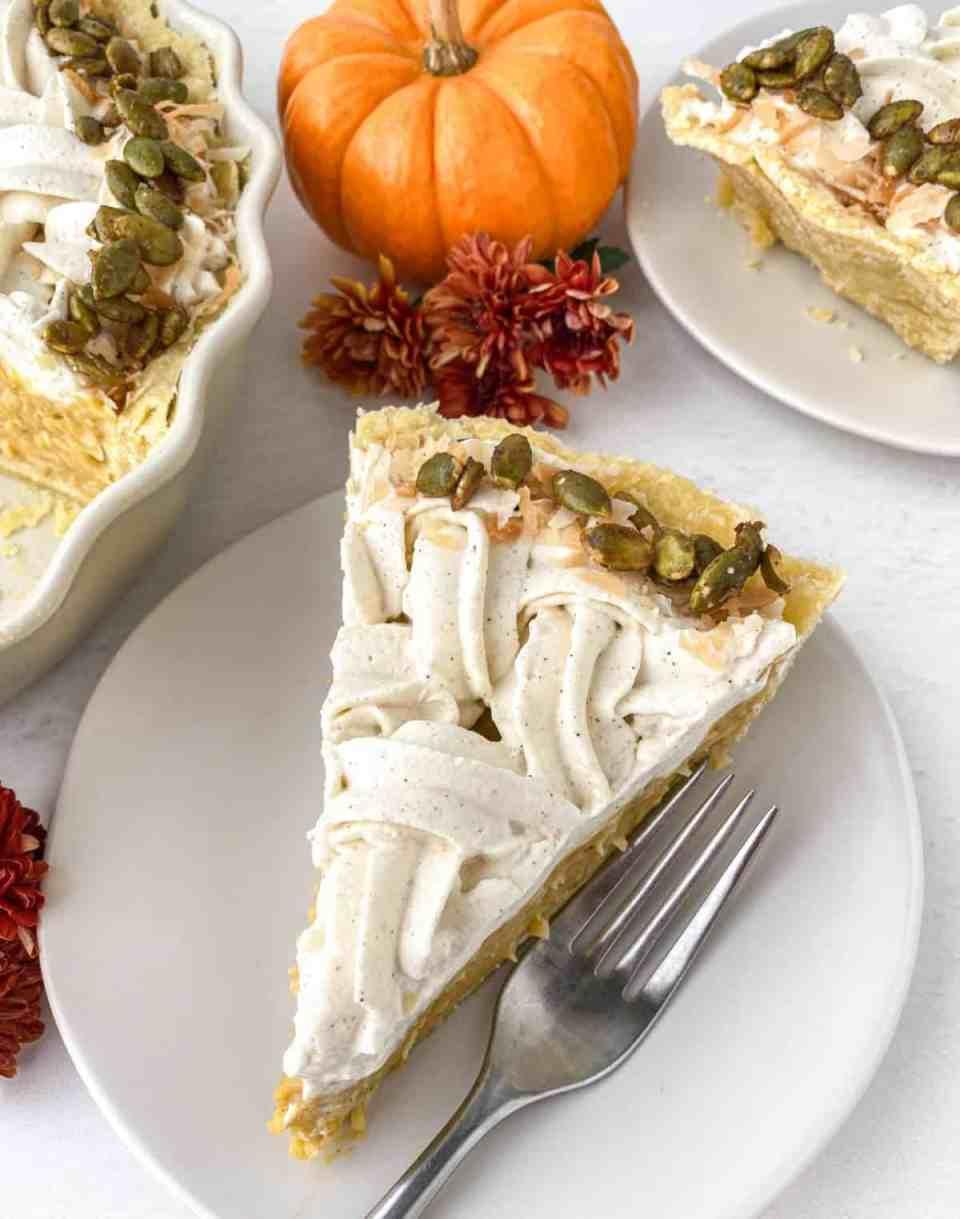 Pumpkin Coconut Cream Pie