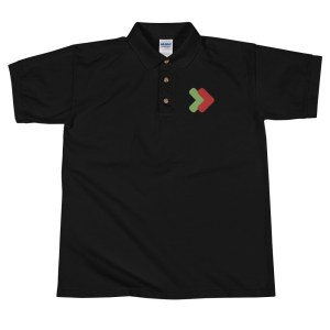 Live to your Living Room classic-polo-shirt-black-front-6021397ed892d Merch