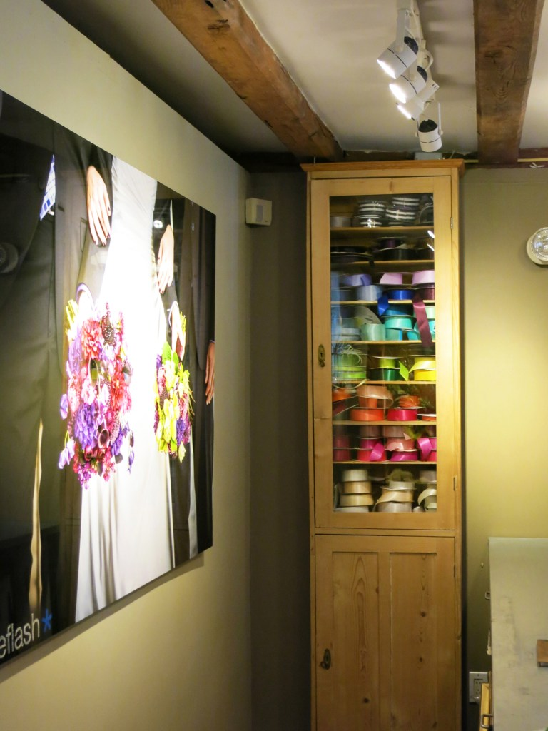 Colorful ribbon on display in Studio 539 located on Wickenden Street in Providence, RI