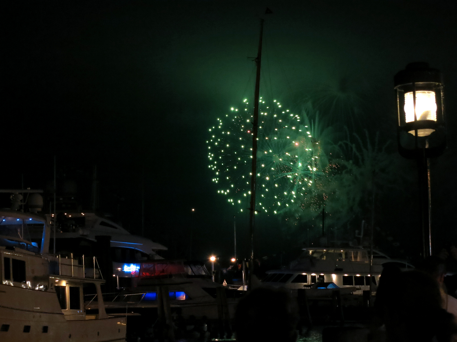 ROCKET'S RED GLARE OVER NEWPORT HARBOR - live. travel. adventure. bless. | Green firework sparkling over Newport Harbor during the Independence Day fireworks display in Newport, RI. Happy 4th of July!