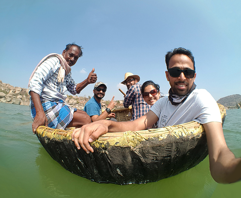 Coracle ride @ Sanapur lake