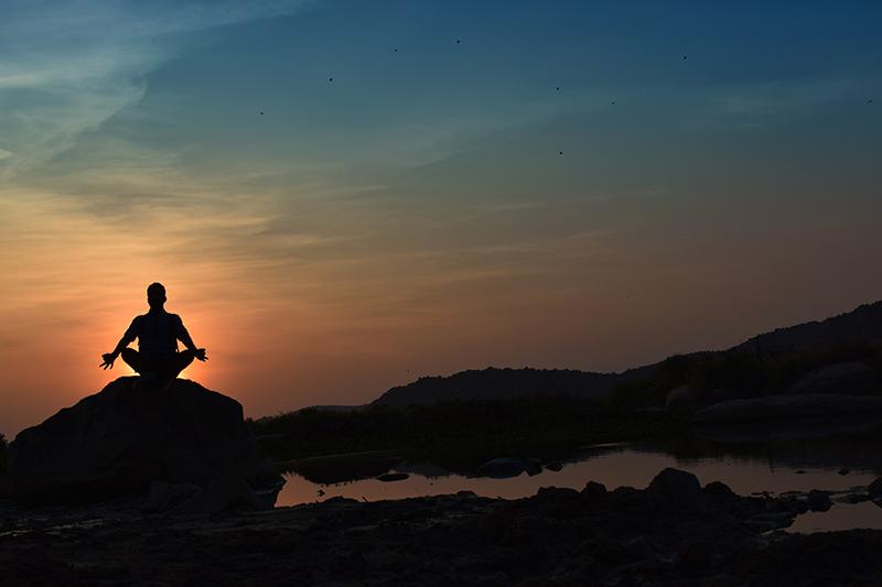 Yoga at dusk