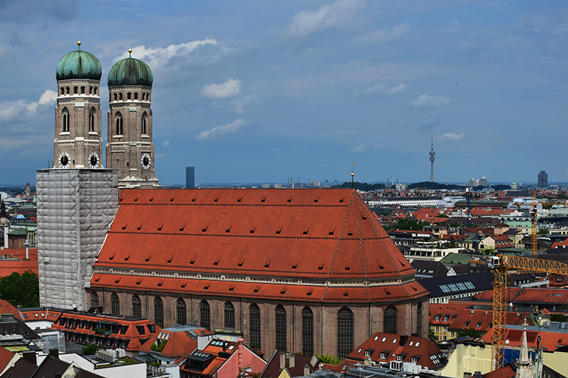 Frauenkirche - view from St. Peter's church's observation deck
