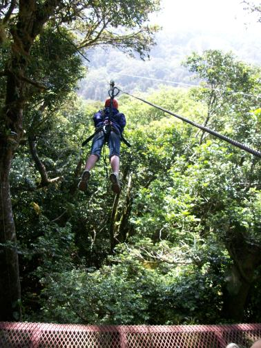 Zip lining in the Monteverde Cloud Forest