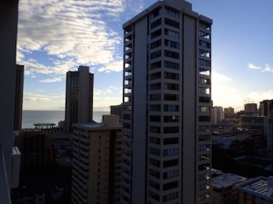 View from the airbnb apartment in Waikiki