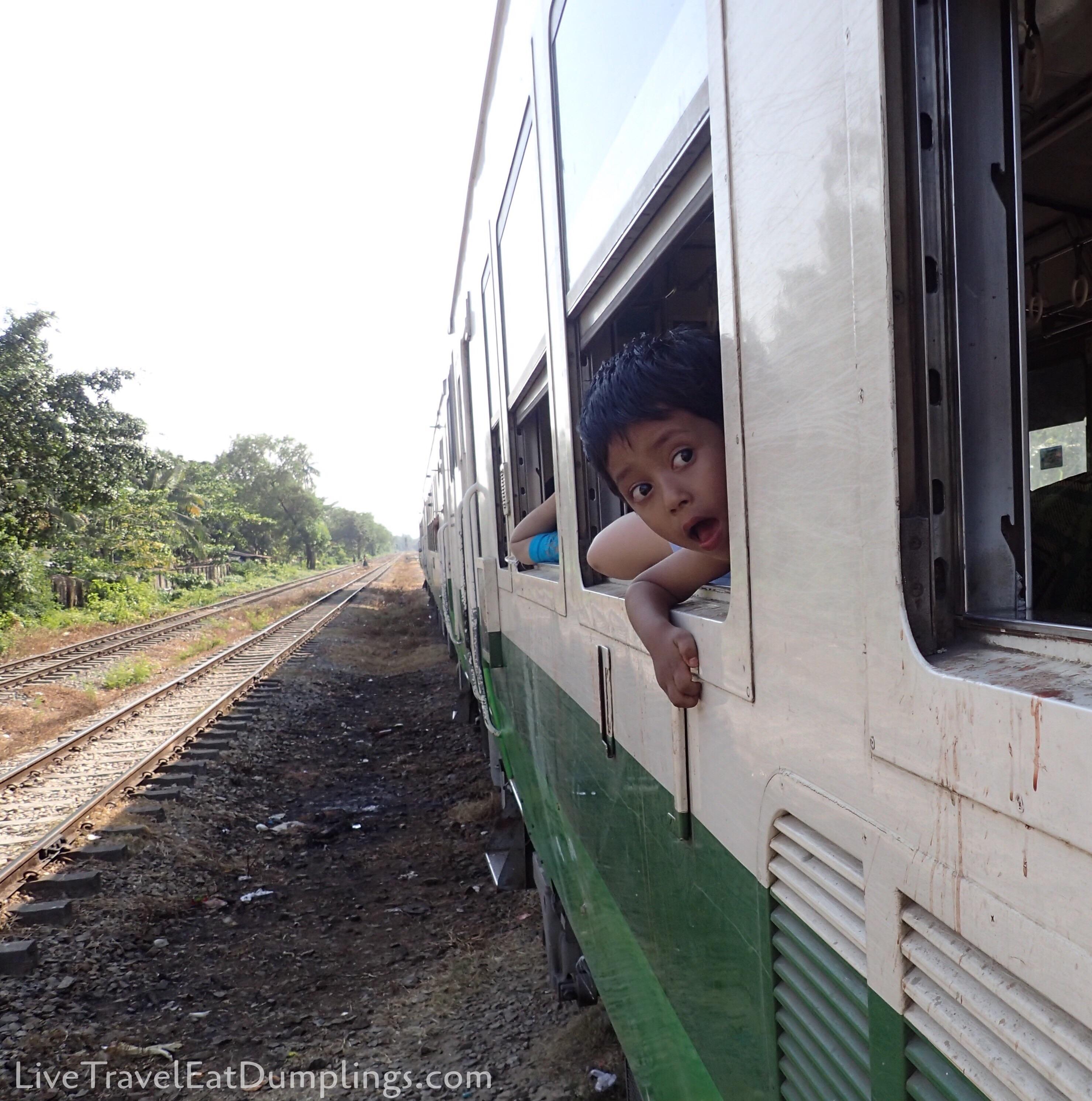 Yangon Circular Train & Danyingon Markets, Myanmar