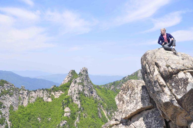 Erik at the top of Dinosaur Ridge