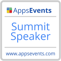 AppsEvents Summit Speaker Badge Bliss