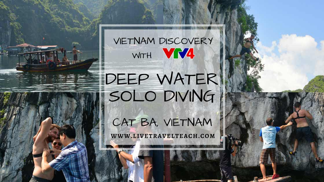 Deep Water Solo Diving - Cat Ba, Vietnam