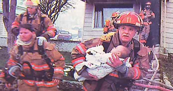 Un pompier a salvat o fetiță dintr-un incendiu. Aceștia s-au reîntâlnit 17 ani mai târziu într-un context total diferit