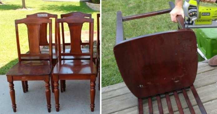 15 moduri în care puteți refolosi un scaun vechi