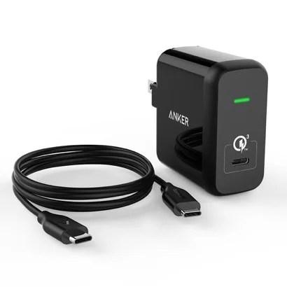 【Anker】急速充電対応のACアダプター(USB-Cケーブル付き)