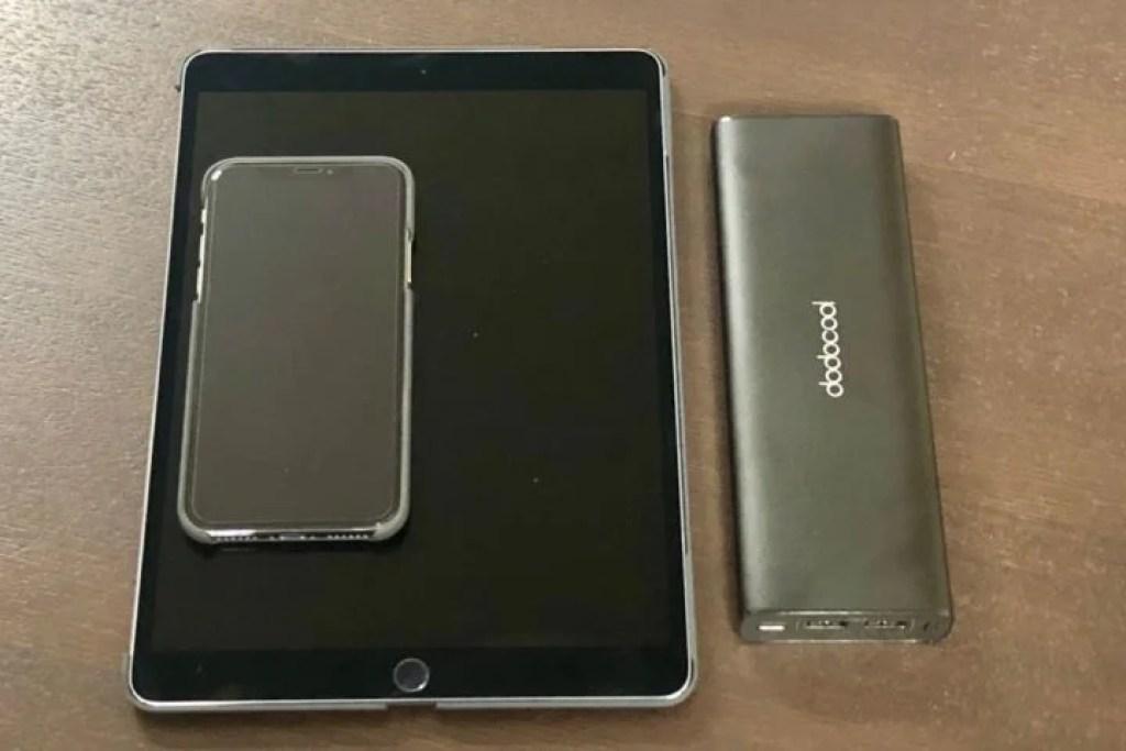 iPhoneXとiPad Pro 10.5とモバイルバッテリー
