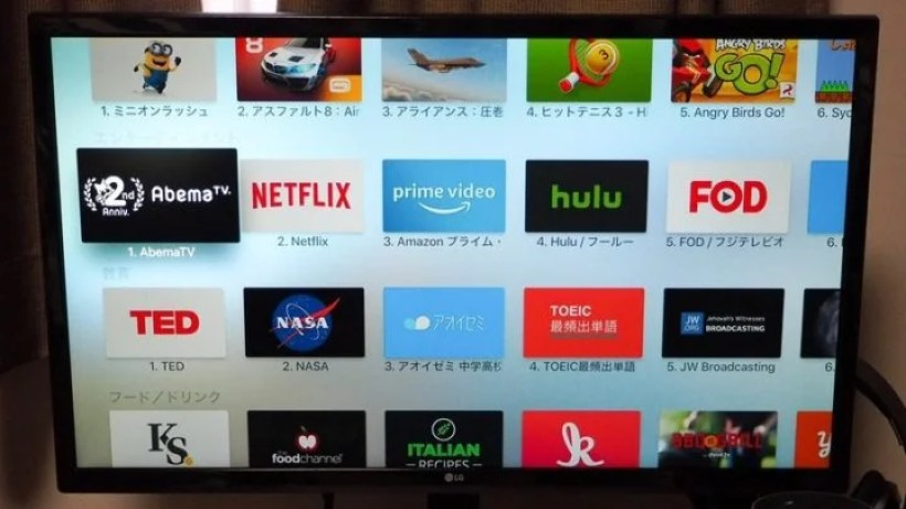 Apple TV 4Kで見れる動画視聴サービス