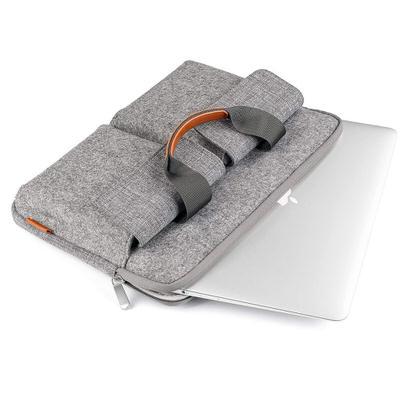 【Inatech】収納機能はばっちり!フェルトデザインのPCバッグ