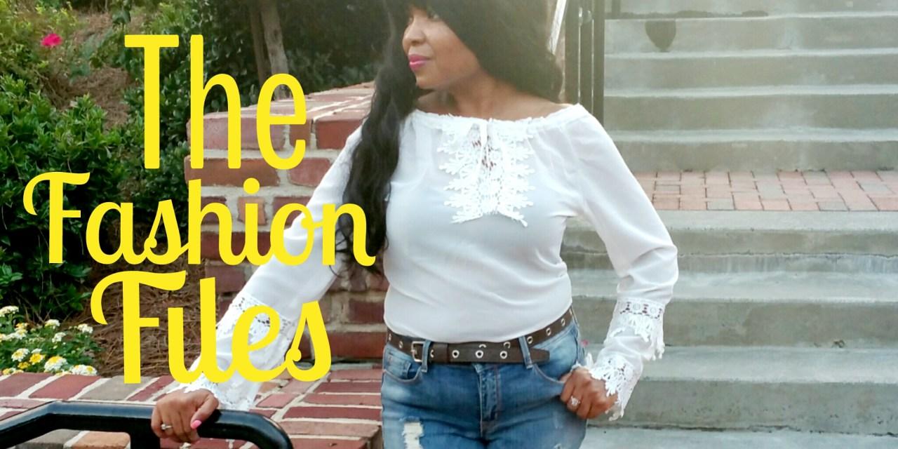 The Fashion Files… Lace, Waterfalls and Black Handbags!