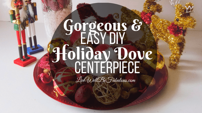 Gorgeous & Easy DIY Holiday Dove Centerpiece