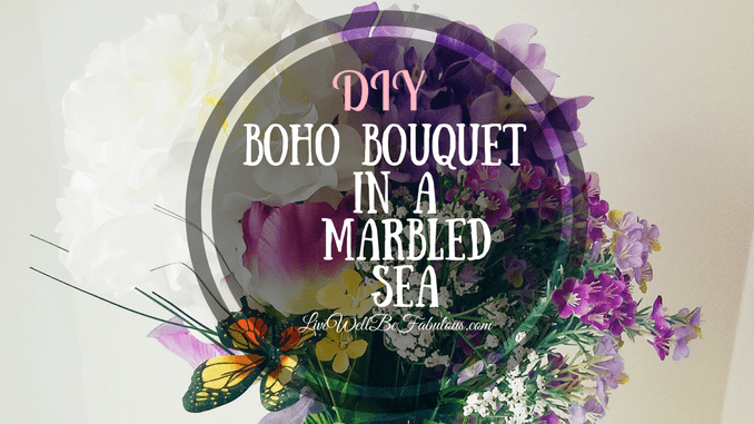 DIY Boho Style Bouquet in A Marbled Sea
