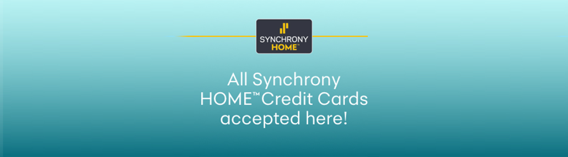 Synchrony home cards accepted at all Live Well Mattress & Furnishing Centres