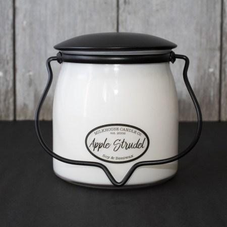 Butter Jar Candle 16 oz: Apple Strudel by Milkhouse