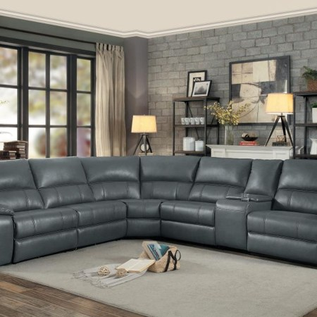 Falun Power Sectional in Grey