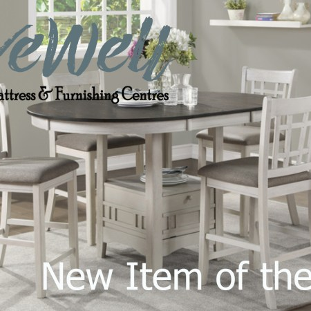 Melanie Keithley of Live Well Mattress & Furnishing Centres on New Item of the Week speaks about Junipero dining collection