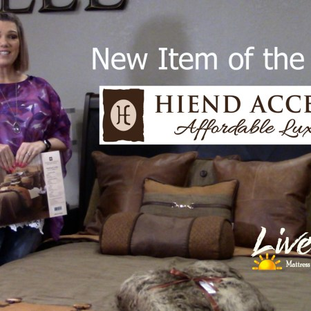 Gretchen Casillas presenting the New Item of the Week Hi End Accents for Live Well Mattress & Furnishing Centres