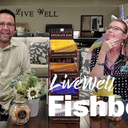 Javier Casillas and Melanie Keithley on Live Well Mattress & Furnishing Centres weekly video podcast Fishbowl