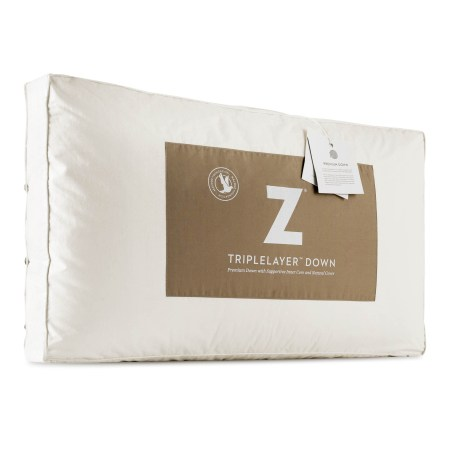 Triple down pillow available at Live Well