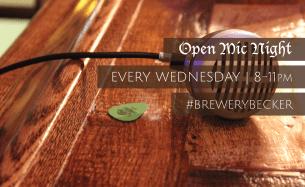 BREWERY BECKER   Open Mic Night   Every Wednesday   Brighton MI_small