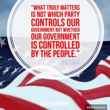 what truly matters is not which party controls our government_Donald Trump quote