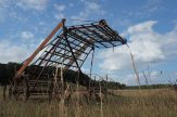 antique farm equipment; field; up close; Port Oneida in Sleeping Bear National Lakeshor