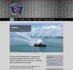 glen lake fire dept website design