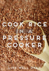 Cook Rice in a Pressure Cooker