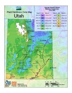 Utah Hardiness Zones