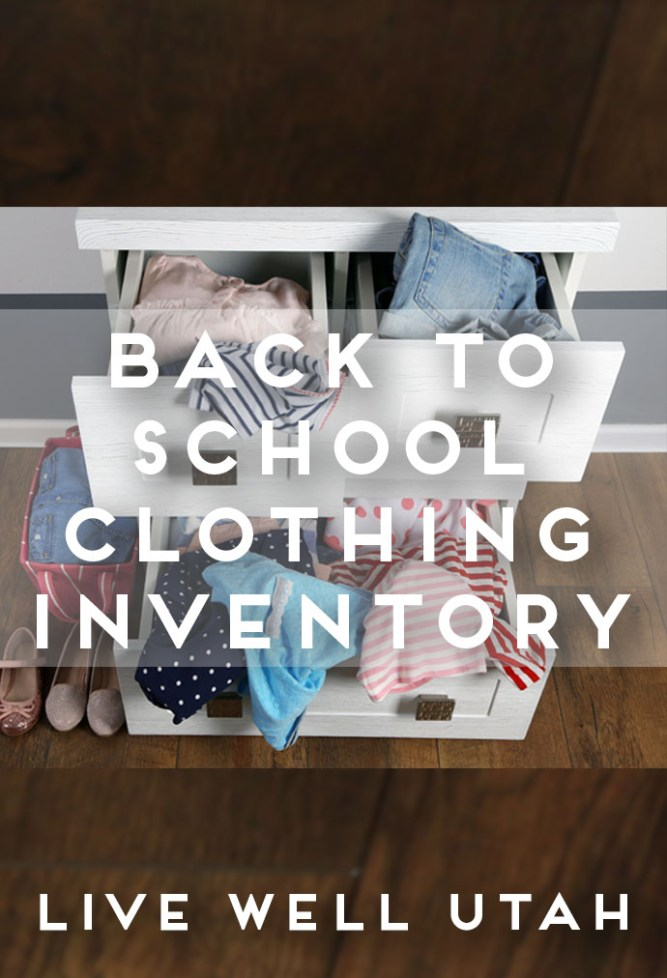 Back to School Clothing Inventory