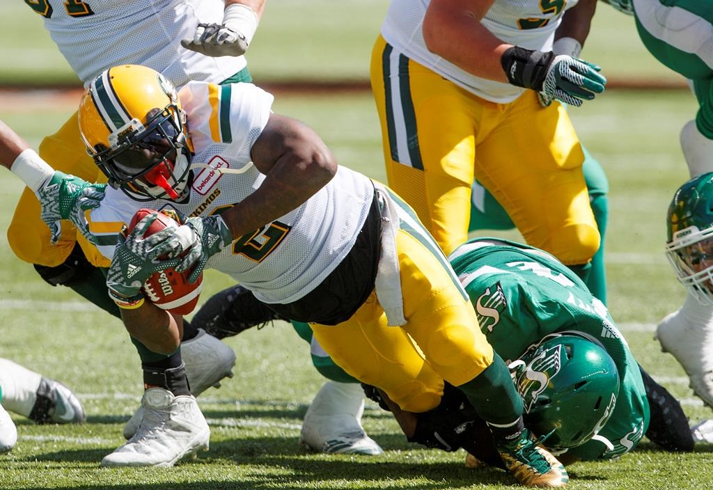 Reilly shines early as Eskimos top Roughriders 35-12 in pre-season opener