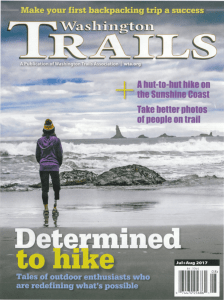 PNW, washington, washington state, seattle, hike, determined, amputee,covergirl, beach, washington trails association, published