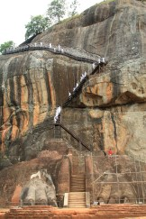 long climb up the lion's rock in Sigiriya