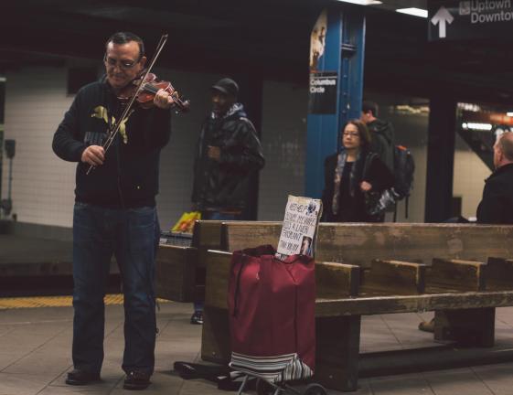 NYC Subway Violin Busking