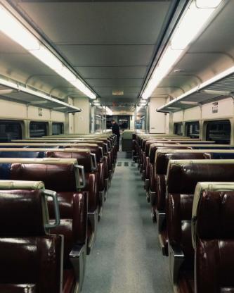 Metro North Empty Train Car NYC