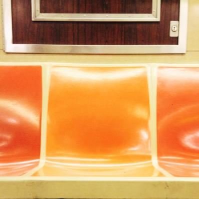 Old Subway Train Seats in NYC